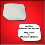 Mirror Glass Replacement + Full Adhesive for 09-15