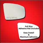 Mirror Glass Replacement + Full Adhesive for 09-14