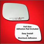 Mirror Glass Replacement + Full Adhesive for 95-02
