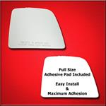 Mirror Glass Replacement + Full Adhesive for 14-18