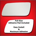 Mirror Glass Replacement + Full Adhesive for 09-12