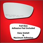 Mirror Glass Replacement + Full Adhesive for 15-17