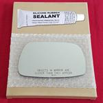 Mirror Glass Replacement + Silicone Adhesive for 0
