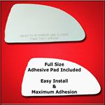 Mirror Glass Replacement + Full Adhesive for 06-12