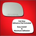 Mirror Glass Replacement + Full Adhesive for 96-05