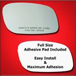 Mirror Glass Replacement + Full Adhesive for 98-11