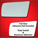 Mirror Glass Replacement + Full Adhesive for 97-00