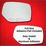 Mirror Glass Replacement + Full Adhesive for 15-16