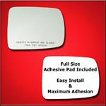 Mirror Glass Replacement + Full Adhesive for 03-11