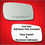 Mirror Glass Replacement + Full Adhesive for Linco
