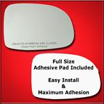 Mirror Glass Replacement + Full Adhesive for 95-03