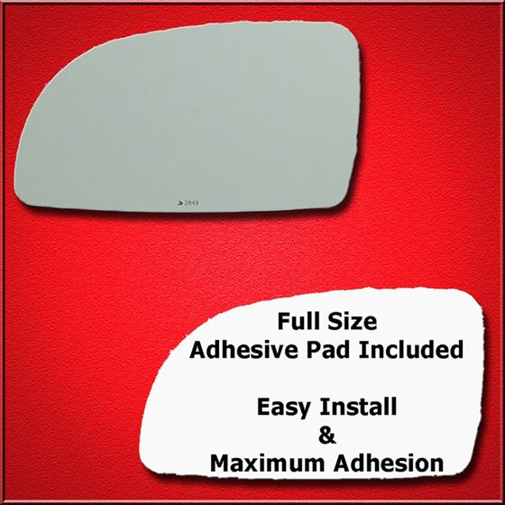 Mirror Glass Replacement + Full Adhesive for 98-00