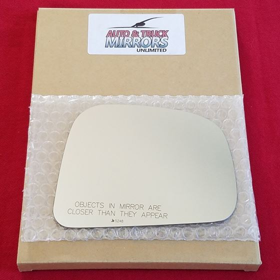 Mirror Glass + ADHESIVE for 07-11 Nissan Versa Pas
