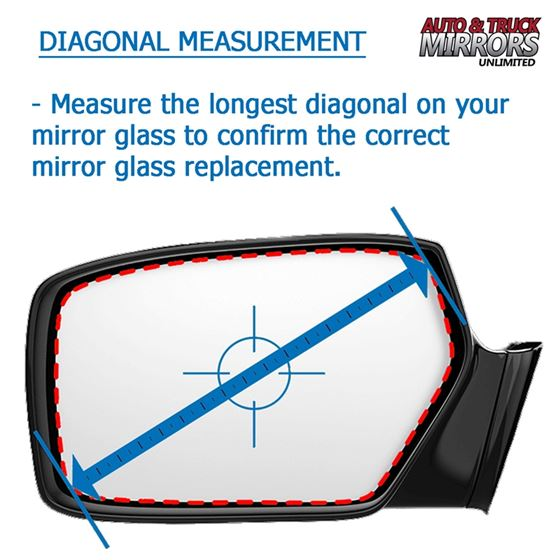 Mirror Glass for Saturn SC, SW, SL Passenger Sid-3