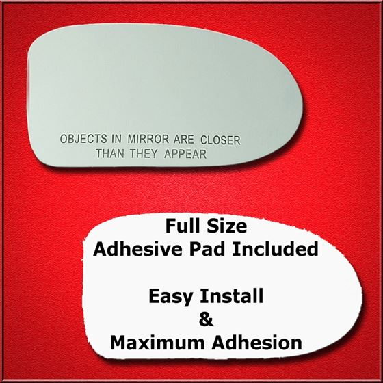 Mirror Glass Replacement + Full Adhesive for Oldsm