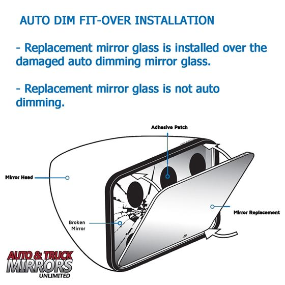 Mirror Glass + Silicone Adhesive for XT4, XT5, B-3