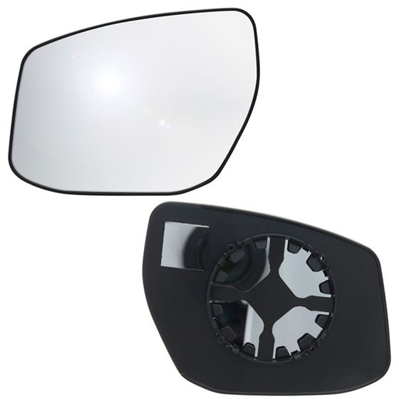 Fits 13-17 Nissan Sentra Driver Side Mirror Glass with Back Plate
