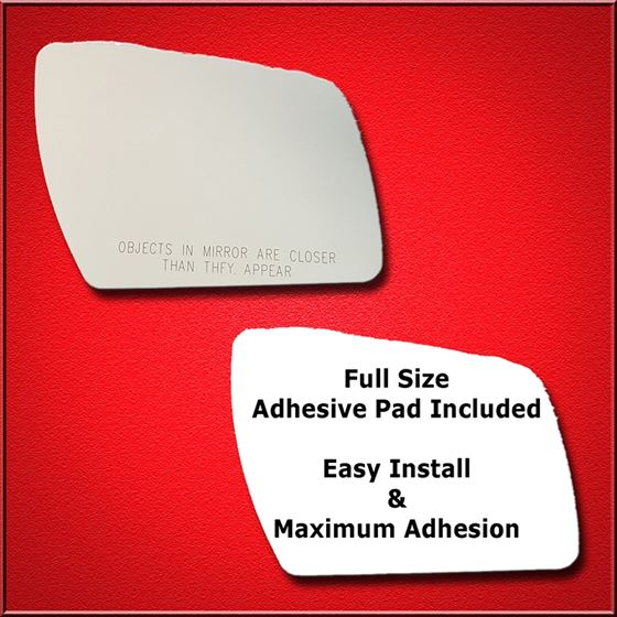 Mirror Glass Replacement + Full Adhesive for 10-13