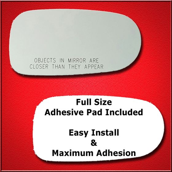 Mirror Glass Replacement + Full Adhesive for 98-02