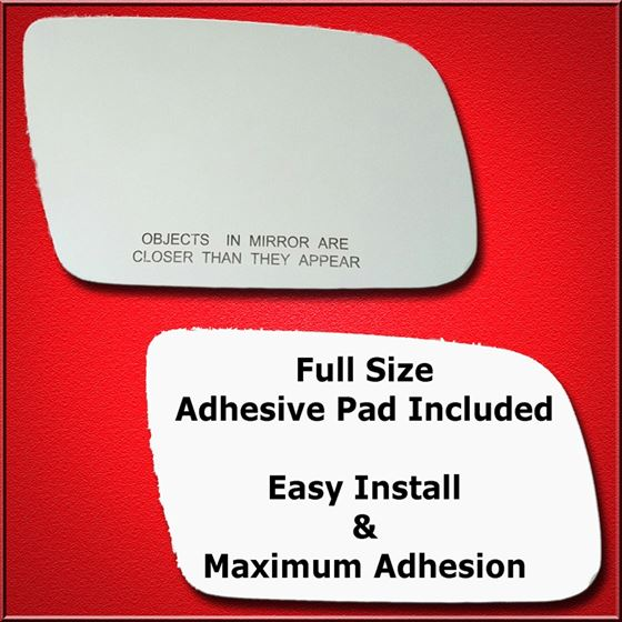 Mirror Glass Replacement + Full Adhesive for 500,