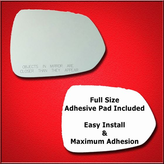 Mirror Glass Replacement + Full Adhesive for 07-08