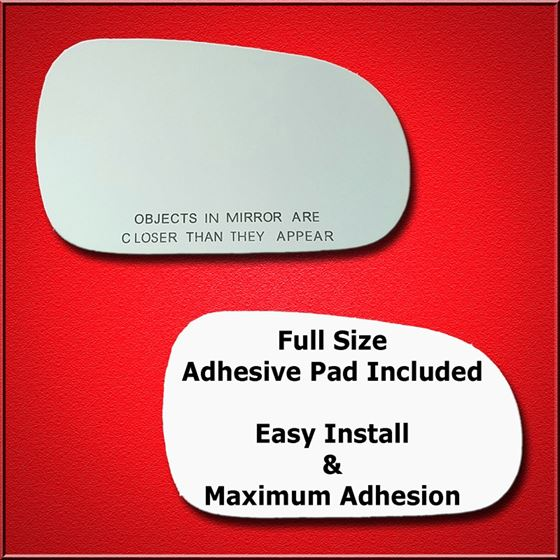 Mirror Glass Replacement + Full Adhesive for 90-93