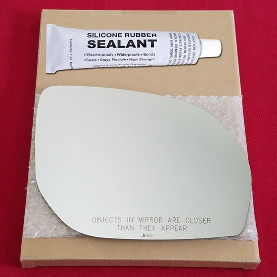 Mirror Glass Replacement + Silicone Adhesive for 1