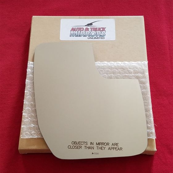 Mirror Glass + ADHESIVE for 10-15 Ford E-150,E-250