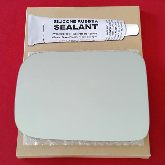 Mirror Glass Replacement + Silicone Adhesive for 8