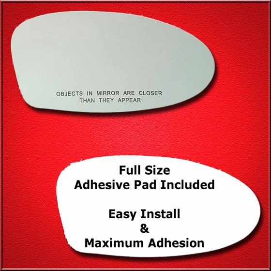 Mirror Glass Replacement + Full Adhesive for Alero