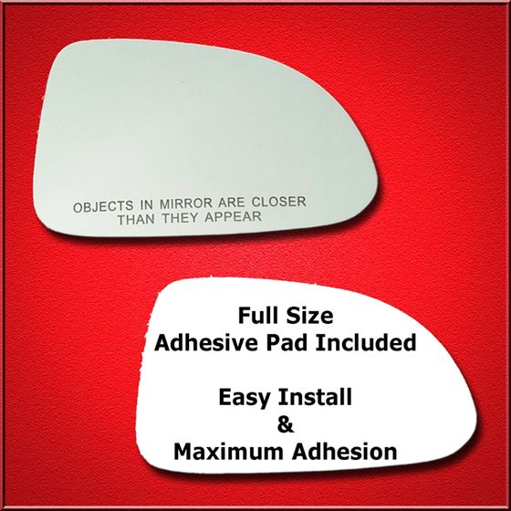Mirror Glass Replacement + Full Adhesive for 00-09