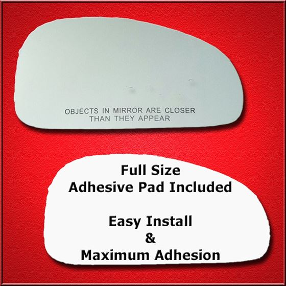 Mirror Glass Replacement + Full Adhesive for 01-06