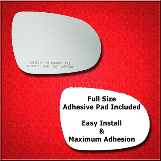 Mirror Glass Replacement + Full Adhesive for 16-18