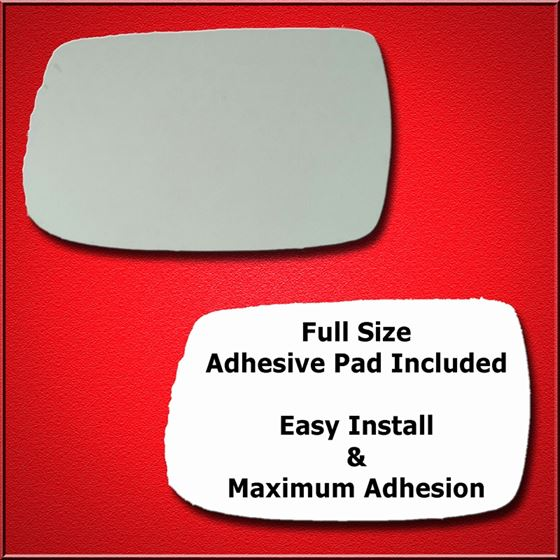 Mirror Glass Replacement + Full Adhesive for Fits