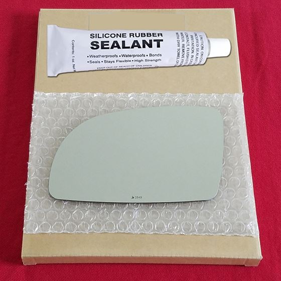 Mirror Glass Replacement + Silicone Adhesive for 9