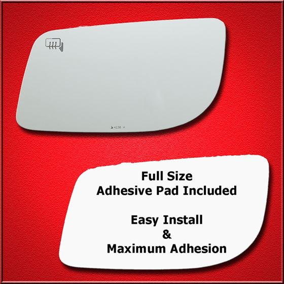 Adhesive For 2009 Lincoln Mks Passenger Side Replacement-Heated Mirror Glass