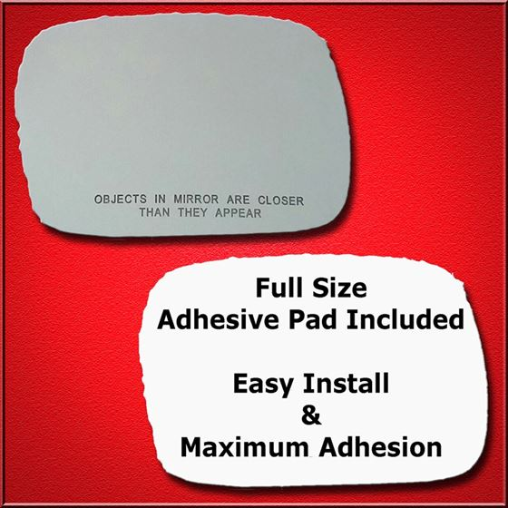 Mirror Glass Replacement + Full Adhesive for 97-01