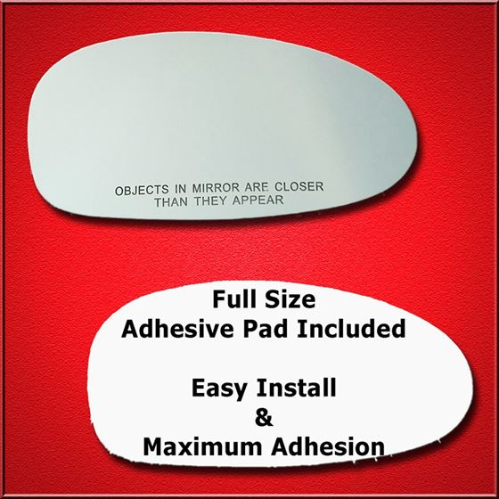 Mirror Glass Replacement + Full Adhesive for 97-02
