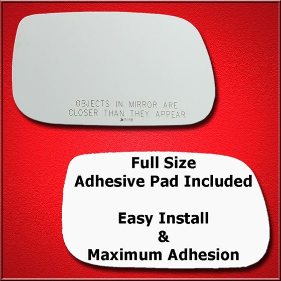 Mirror Glass Replacement + Full Adhesive for 04-04