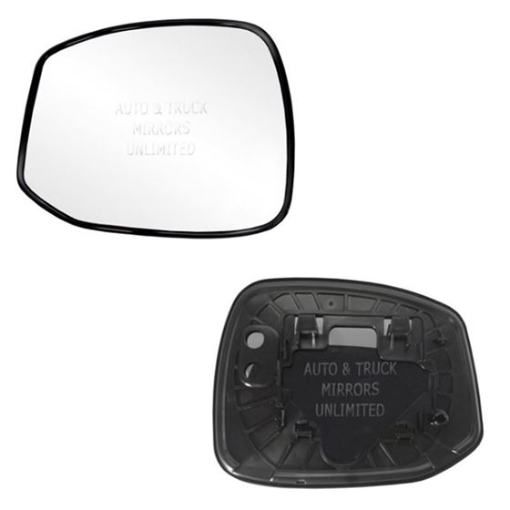 Fits 14-15 Honda Civic Driver Side Mirror Glass wi