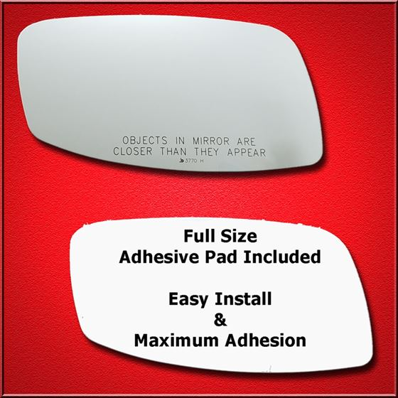 Mirror Glass + Full Adhesive for 02-06 Lincoln LS